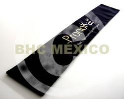 Banda para edecan negra logo en vinil textil