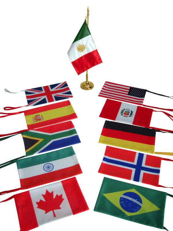Banderas de mesa o escritorio