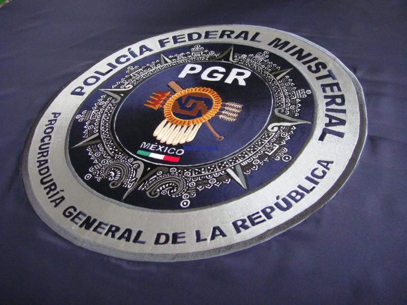 Bandera bordada Policía Federal Ministerial