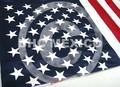 Bandera de USA estrellas en vinil textil