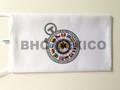 Bandera escritorio logo impreso en sublimacion