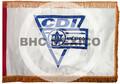 Estandarte horizontal sobre diseño del Centro Deportivo Israelita bordado